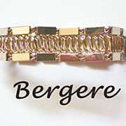 Gold tone Chain Link Bracelet by Bergere