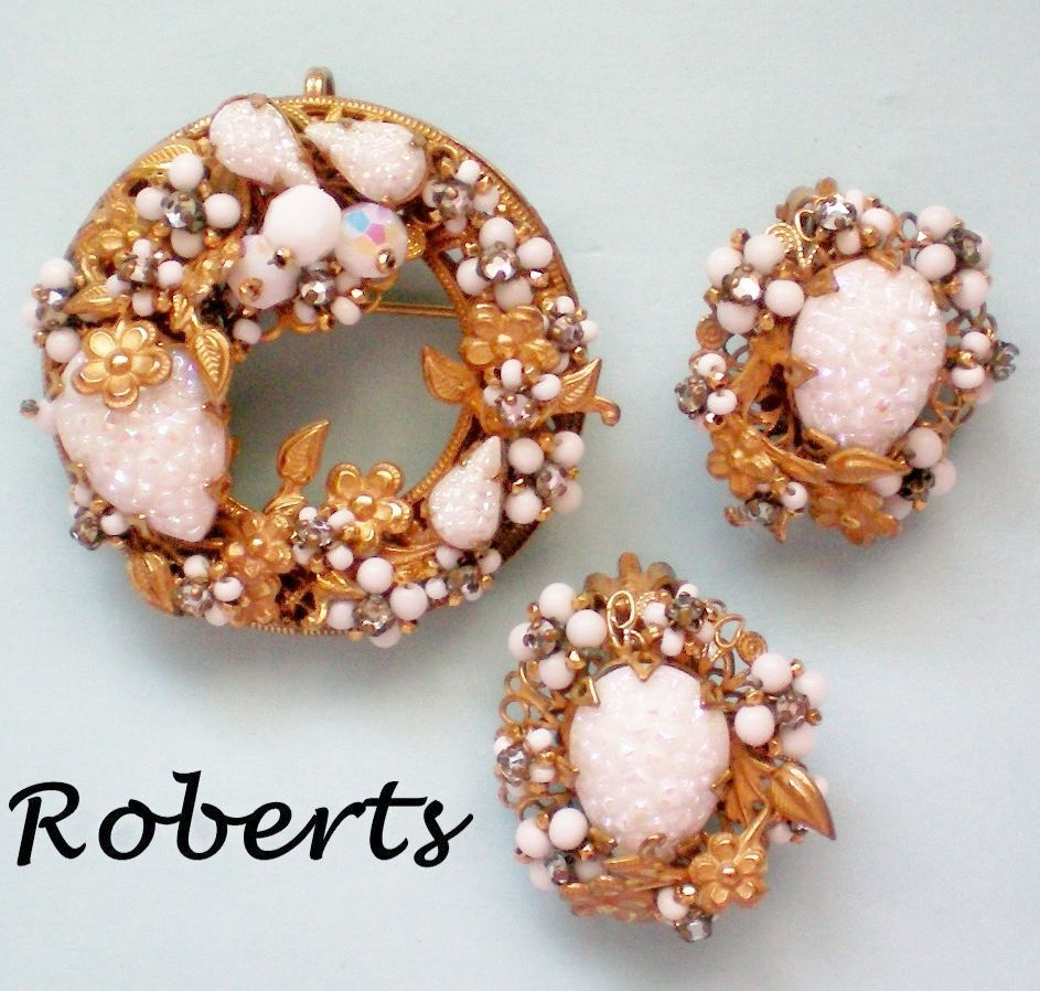 Original by Robert Wreath Brooch / Pendant & Earrings