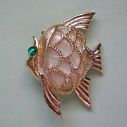 SALE Mother of Pearl Fish Pin