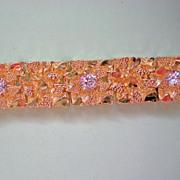 Large Gold Nugget Motif Bracelet