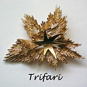 SALE Crown Trifari Shooting Star Brooch