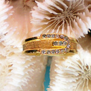 Avon Buckle Rhinestone Ring