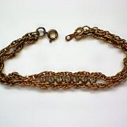 Delicate Chain and Rhinestone Bracelet