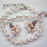SALE Laguna Crystal Bead Necklace and Cha Cha Earrings