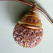 Glitter Ball Pendant on 34 Inch Snake Chain
