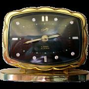 SALE Bradley German Alarm Clock with Rhinestone Numerals