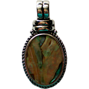 SALE Mother of Pearl Pendant by Roman