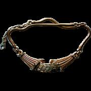 Corocraft  Pat Pend Baguette Rhinestone Necklace