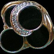 Black Onyx Rhinestone Ring