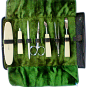 SALE Manicure Set in Original Leather Pouch