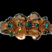 SALE Wire Mesh Rhinestone Clamper Bracelet