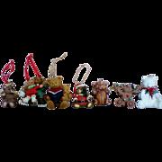 SALE Ceramic Bears Christmas Tree Ornaments