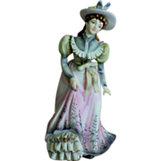 SALE Lefton Hand Painted Bisque Porcelain Figurine