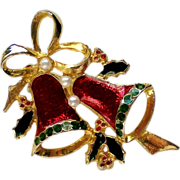 SALE Joyous Bells Christmas / Holiday Pin