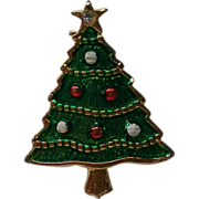 SALE Bright Green Christams Tree Pin