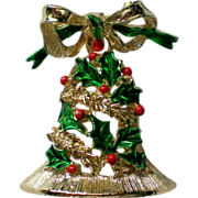 SALE Articulated Holiday Bell Pin by Gerry's