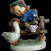 "SALE Hummel Figurine Boy and Goose titled ""Barnyard Hero"""