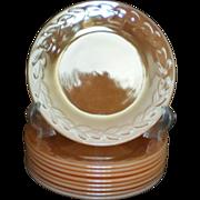 SALE King Peach Lustre, Laurel Pattern 7¾ Inch  Salad Plate