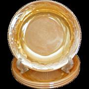 """Fire King Peach Lustre Laurel Pattern 7½"""" Soup / Salad Bowls"""