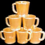 SALE Fire King Anchor Hocking Peach Luster D Handle Coffee Mug