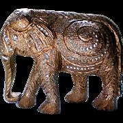 SALE Brght Cut Metal Elephant Figurine