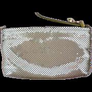 Large Gold Metal Mesh Shoulder Bag / Purse