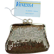 SOLD Gold tone Mesh Coin Purse by Vanessa - Red Tag Sale Item
