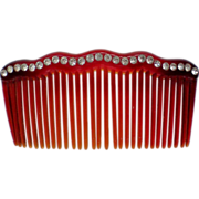 Rhinestone Studded Cellulose Hair Comb