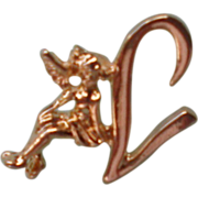 SALE Letter L with Fairy Lapel Pin