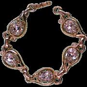 SALE Fabulous Signed Kramer Rhinestone Station Bracelet