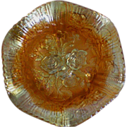 SALE Imperial Glass Amberina Luster Rose Footed Bowl