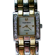 Sergio Valente Ladies Diamond MOP Watch