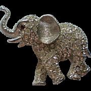 SALE Joseph Warner Silver tone Elephant Pin