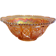 Fashion by Imperial Large Carnival Glass Bowl in Merigold