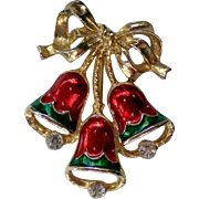 SALE Joyous Bells Holiday / Christmas Pin