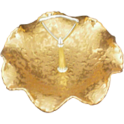 22 KT Gold Park Ave. China Weeping Gold Candy Dish