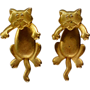 SALE Cat Earrings by Jonette Jewelry