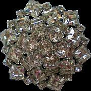 Fabulous Weiss Rhinestone Cluster Brooch