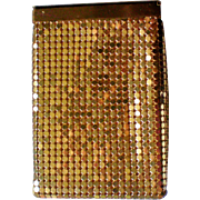 Whiting and Davis Gold Mesh Cigarette Case or Purse