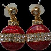 SALE Christmas Tree Ornament Dangle Pierced Earrings
