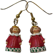 SALE Primitive Angels Pierced Earrings for the Christmas Holidays