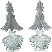 I W Rice Identical Glass Perfume Bottles