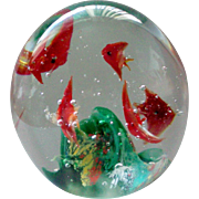 Dynasty Gallery Glass Paperweight Fish Aquarium