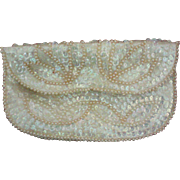 Beaded Sequin Evening Envelope Clutch Bag