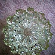 SALE Fostoria Glass Spool Pattern Ashtrays