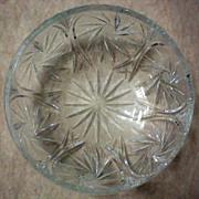 SALE Large Cut Glass Bowl