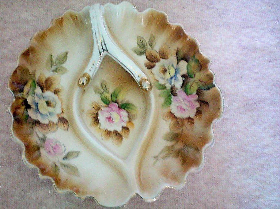 Hand Painted Porcelain Nappy or Lemon Dish