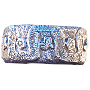 One of a Kind Handmade Fine Silver Forget Me Not Cuff