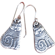 Fine Silver Handmade Little Magical Cat Earrings