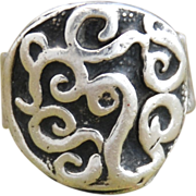 Handmade .999 Fine Silver Design Ring